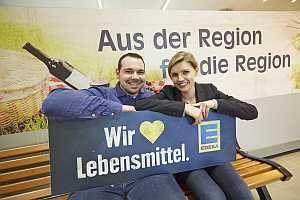 Marktleiter Ferdinand Krämer, EDEKA-Kauffrau Susanne Kuhnle